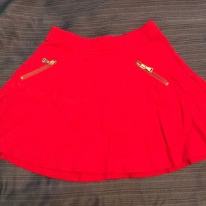 Express red skirt size 00